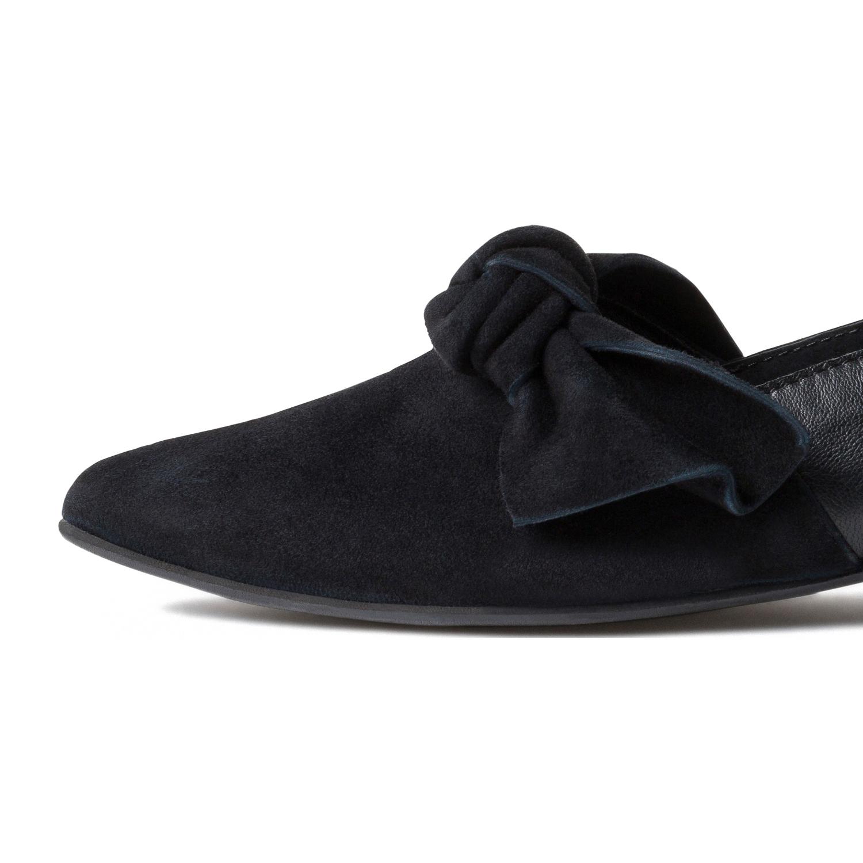slipper mit schleife schwarz hallux valgus schuhe. Black Bedroom Furniture Sets. Home Design Ideas