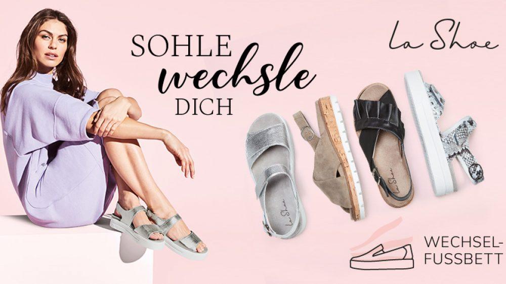 Sommerliche Hallux-Schuhe mit Wechselfußbett